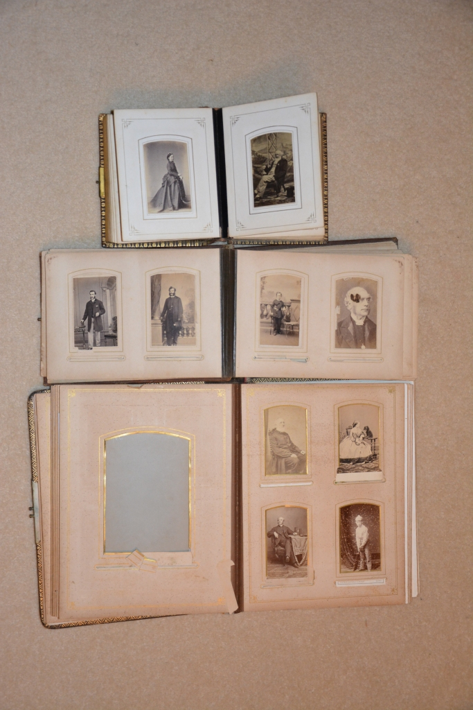 The Archdall albums with Winslow images and their placement.